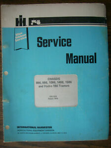 Ih Farmall International 886 986 1086 1486 1586 Hydro 186 Service Manual