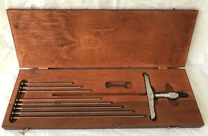 Starrett 445 Micrometer In Wooden Case