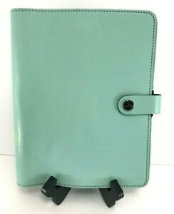 Filofax Organizer A5 Leather Classic Planner Binder Duck Egg Blue