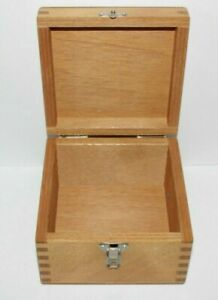 Cheney England Wooden Display Hinged Box Vintage