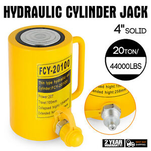 20 Tons 4 Solid Hydraulic Cylinder Jack Automotive Body Metal Single Acting