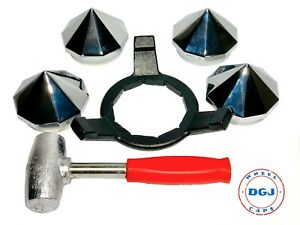 Bullet Knock off Spinner Caps Wrench And Lead Hammer For Lowrider Wire Wheels