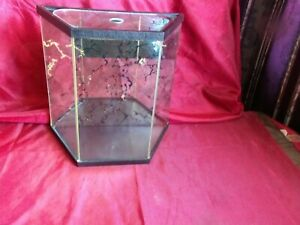 Vintage Mirrored Glass Table Top Display Case