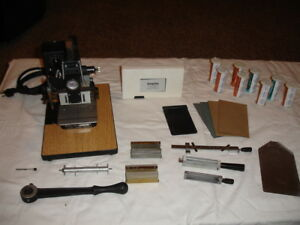 Kingsley Hot Foil Stamping M 101 Machine With Accessories Works Great