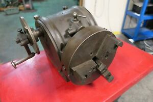 Brown Sharpe Dividing Head With 9 Three Jaw Chuck