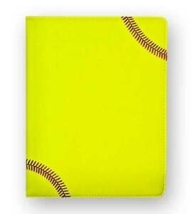 Softball Portfolio Planner Organizer Notebook Made From Real Softball Material