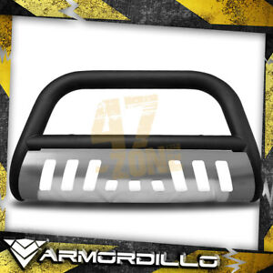 For 1999 Ford Ranger Matte Black W Aluminum Skid Plate 3 Bull Bar Bull Guard
