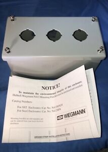 Hubbell Wiegman 3 Hole Electric Box enclosure Pbxd3
