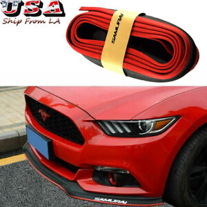 Black Red 8ft Samurai Bumper Lip Splitter Chin Spoiler Body Kit Fit Ford Mustang