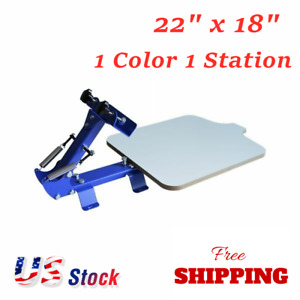 Us Stock 1 Color 1 Station Manual Silk Screen Printing Press For T Shirt