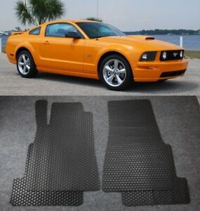 All Weather Black Rubber Floor Mats Liners Front Rear Fit 2005 2009 Ford Mustang
