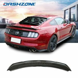 Track Pack Trunk Spoiler Wing Gloss Black Fit 2015 2018 Ford Mustang S550 Gt350