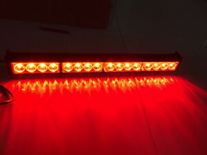 16 Led 12v Car Truck Emergency Warning Beacon Dash Flash Strobe Dash Light Red