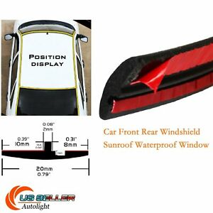 Auto Front Rear Windshield Sunroof Weatherstrip Rubber Seal Strip Edge Trim 40ft