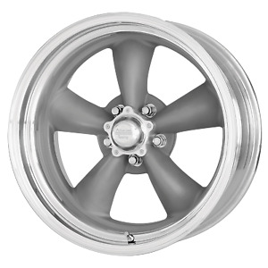 15 X 8 American Racing Classic Torq Thrust Ii One Piece Mag Gray W Machined Lip