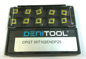 10 Inserts For Rotate Cpgt 05t102endp25 Von Denitool Neu H26406