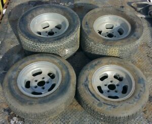 Aluminum Slotted Mag Wheels Tires 15 14 5 On 4 5 Ford Dodge Magnesium Slots