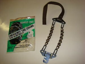 Acco Emergency Snow Tire Chains W Ice Cleats For Driveways Steep Hills Etc
