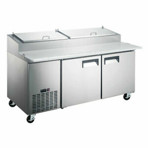 Coldline Pic2 hc 71 Refrigerated Pizza Prep Table 9 Pans