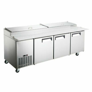 Coldline Pic3 hc 92 Refrigerated Pizza Prep Table 12 Pans