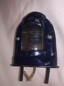 Vintage Guide L 52 License Plate Light Lamp With Glass Lense Excellent