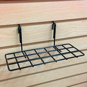 Slatwall Pegboard Gridwall Flat Wire Retail Display Shelf Black 4 D X 10