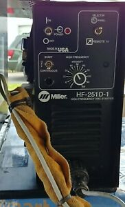 Miller Hf 251d 1 High Frequency Box With 25 Torch And Miller Contactor Control