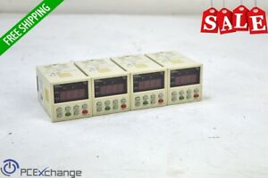 Lot Of 4 Fuji Pxz 4 Pid Temperature Controller Pxz4tby2 0 Thermocouple c Relay