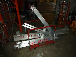 Spanco Gantry Crane Aluminum 2 Ton Rigging Hoist 8 Foot Span Adjustable Height