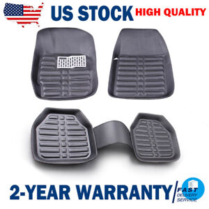 5pcs Universal Car Auto Floor Mats Floorliner Front Rear Carpet Cleaner All Weat