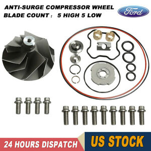 Powerstroke 7 3l Tp38 Gtp38 Turbo Banks Compressor Wheel Upgraded Rebuild Kit