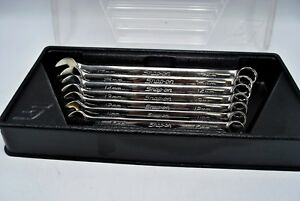 Snap on Oexm707b 7pc Metric Mm Flank Drive Standard Combination Wrench Set