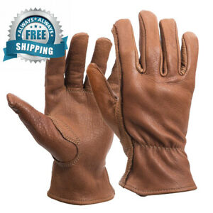 American Made Buffalo Leather Work Gloves 650 Size Medium