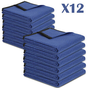 Moving Blankets Set Of 12 72 X 80 Performance Heavy Duty Professional