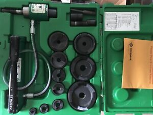 Greenlee 7310sb Hydraulic Knockout Punch Set 1 2 To 4 7310 Slug Buster