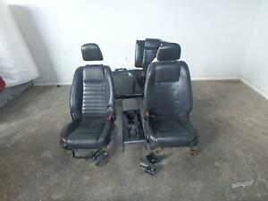 2005 2006 2007 Ford Mustang Cpe Front Rear Seat Black Leather Power Oem
