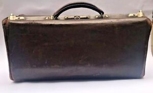 Old Antique Vintage Apothecary Medical Leather Bag 30s 40s