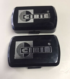 Cibie 35 Or 135 Black Rectangular Light Covers Stone Shields Pair