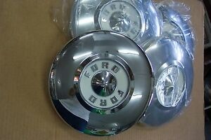 1956 Ford New Set Of 4 Hubcaps All New Show Condition Also For 56 Thunderbird