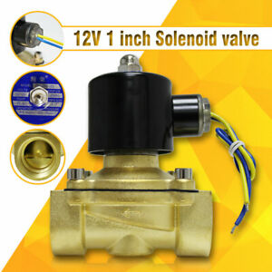 Dc 12v 1 Npt Electric Solenoid Brass Valve Water Oil Air Gas Valve 2w 250 25