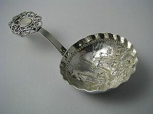 Dutch Silver Spoon 833 Silver Monkey Spoon By G7s Holland Netherlands Ca1900s