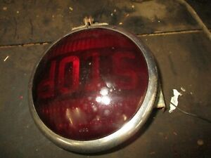 Antique Vintage Working Stop Tail Light With Bracket 6 Inch Yankee 6 Volt