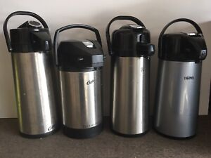 4 Commercial Coffee Airport Dispenser Lot Stainless Steel Curtis bunn thermos