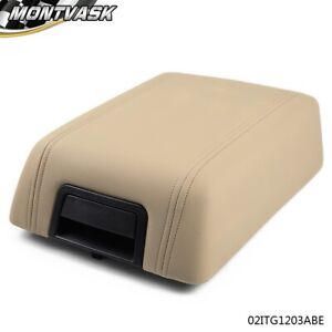 For 2004 2008 Ford F 150 Beige Leather Center Console Arm Rest Lid Cover Pad