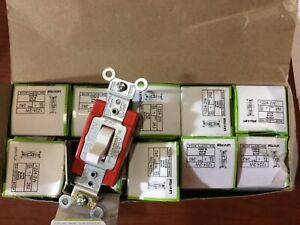 Box Of 10 Leviton 1224 2w 4 way Toggle Switch s White Commercial Grade