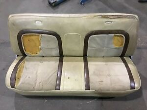 1973 1979 Ford F series Truck Factory Front Lariat Lt Brown Bench Seat Complete