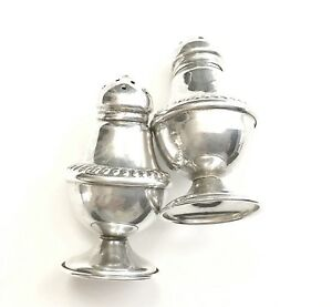 1800s Antique Sterling Silver Salt Pepper Shakers Marked 18