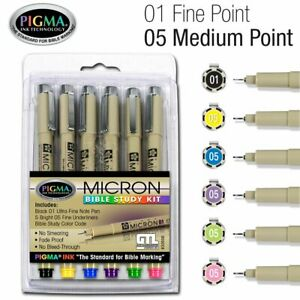 Accu gel Bible Highlighter Study Kit Pack Of 6 Pigma Micron Bible Study Kit