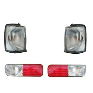 Land Rover Discovery 2 1999 2002 Clear Front Indicator Rear Bumper Lights Set