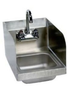 Stainless Steel Hand Sink With Splash Guards 14 X 10 Nsf